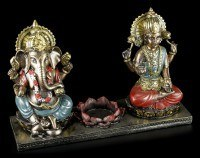 Tealight Holder - Ganesha Figurine with Krishna