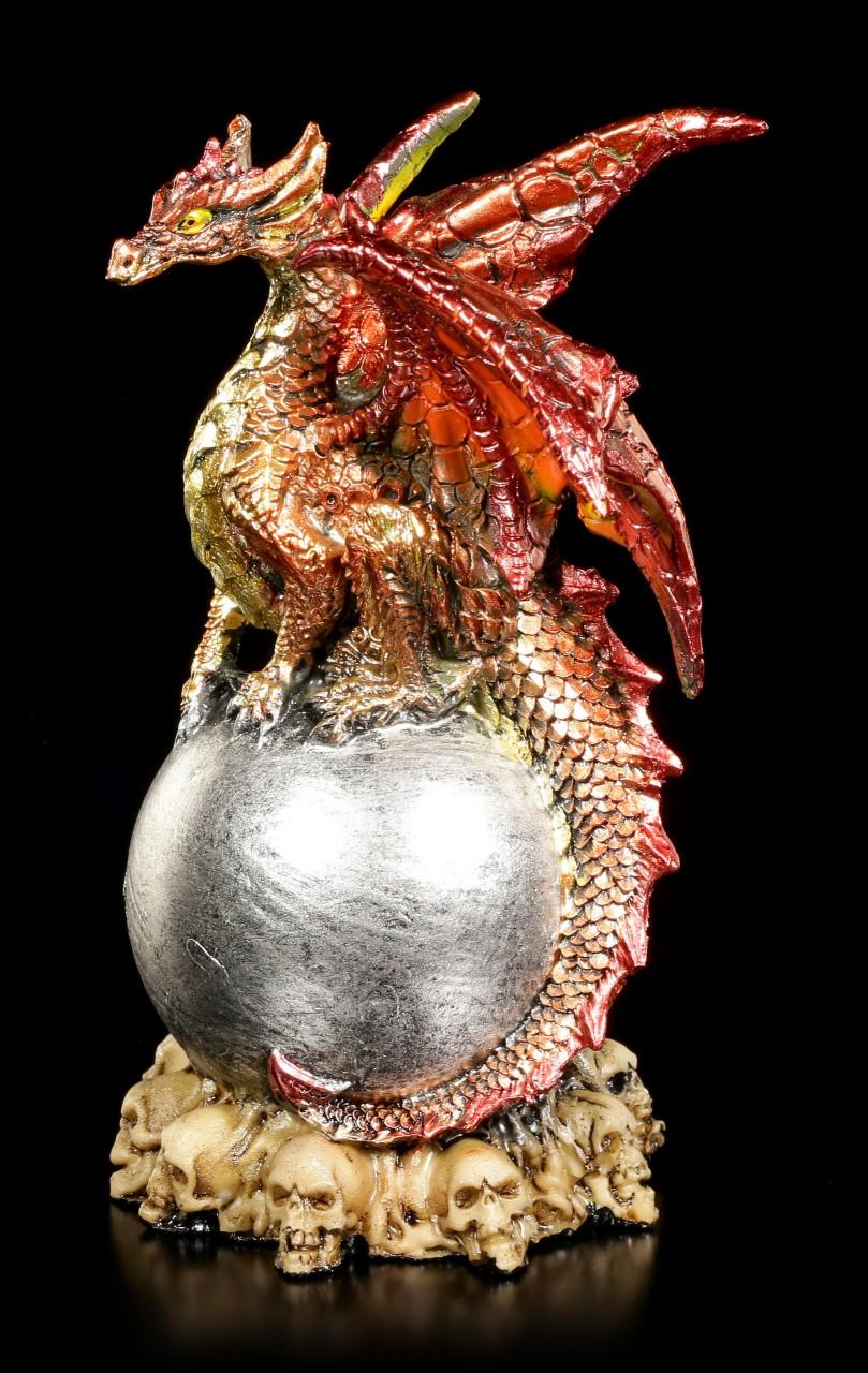 Drachen Figur - Bidus auf silberner Kugel