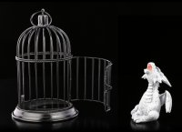 Dragon Figurine in Cage - Pearl Pet