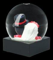 Skull Snow Globe - Day of the Dead - Bridal Couple