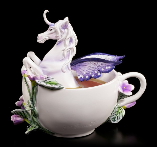 Unicorn Figurine with Cup - Enchanted Unicorn