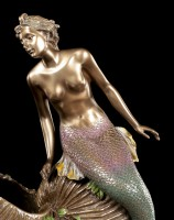 Jugendstil Schale - Meerjungfrau sitzt auf Muschel