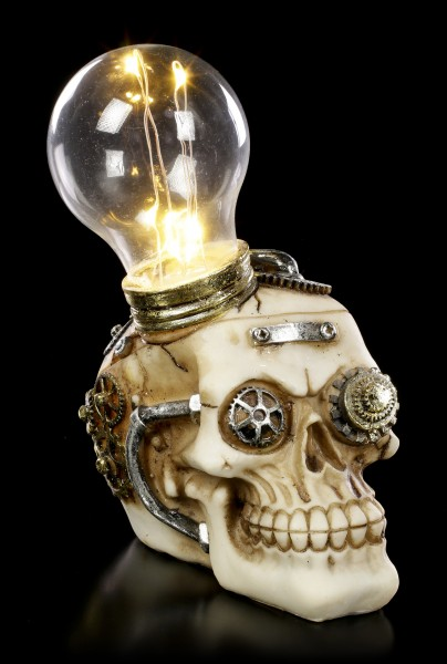 Steampunk Totenkopf mit LED - Bright Idea