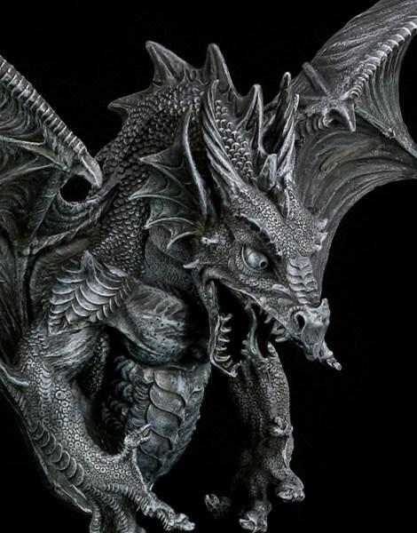 Drachen Wandrelief Gro