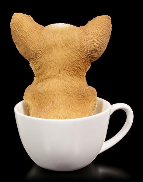 Hunde Figur - Chihuahua Welpe in Tasse