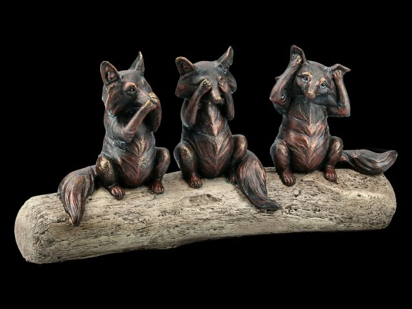 Fox Figurines - No Evil