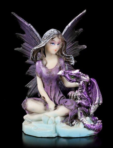Ice Fairy Figurine - Fredda with little Dragon