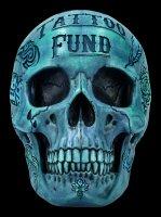 Skull - Tattoo Money Bank - blue