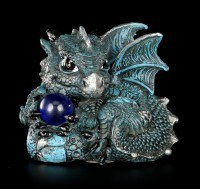 Small Dragon Figurine Set - Aquamarin Ruby Citrene