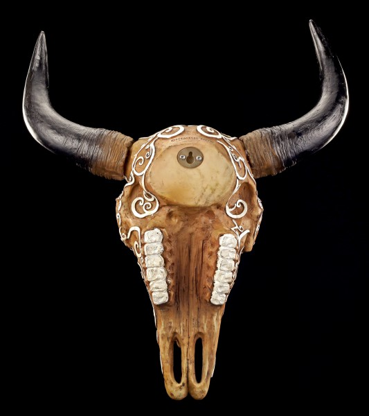 Wall Plaque - Ritual Buffalo Skull with Pentagram
