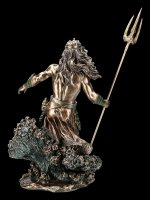 Large Poseidon Figurine rises from Waves
