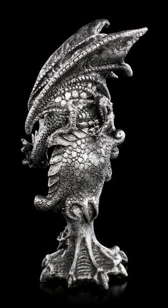 Drachen Figur mit Auge in Smaragdgrün