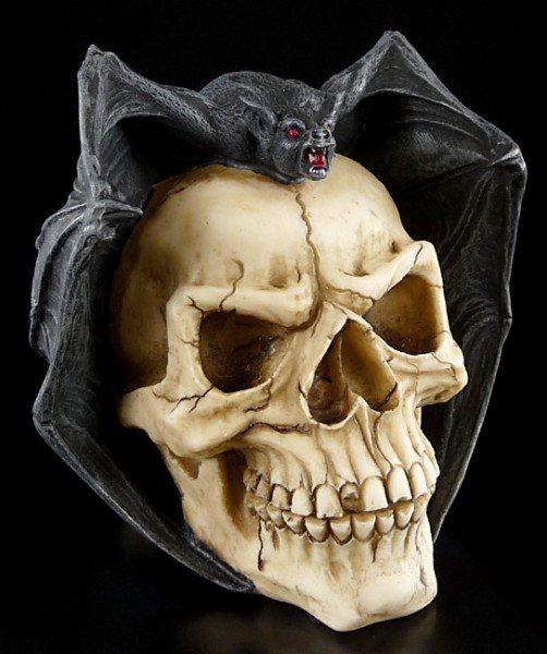 Skull with Bat