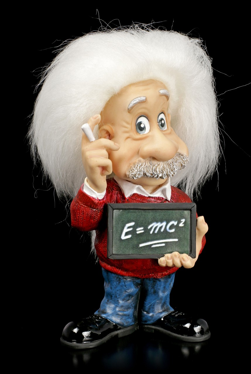 Albert Einstein Figur - E=mc²