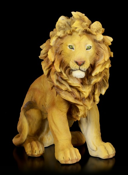 Large Lion Figurine - Sitting