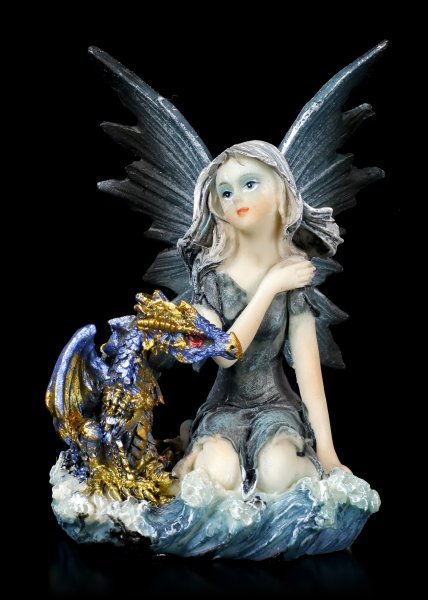 Water Fairy Figurine - Idrica with little Dragon