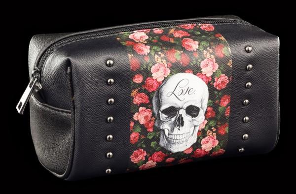Kosmetik Tasche Totenkopf - Rose Skull