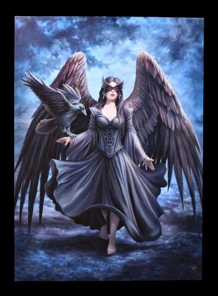 Large Canvas with Angel - Raven