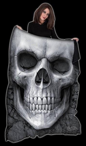 Solemn Skull - Fleece Blanket