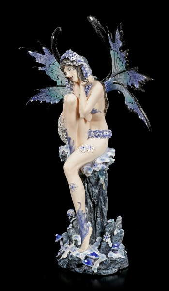 Winter Fairy Figurine - Ciana with Snow Owl