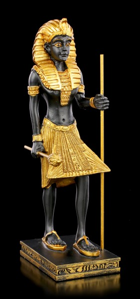 Ägyptische Figur - Tutanchamun mit Stab und Zepter