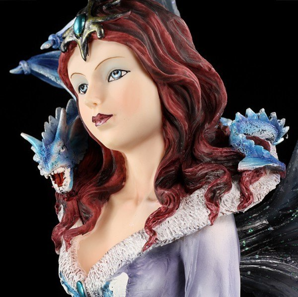 Large Fairy Figurine - Dragoness with Dragons