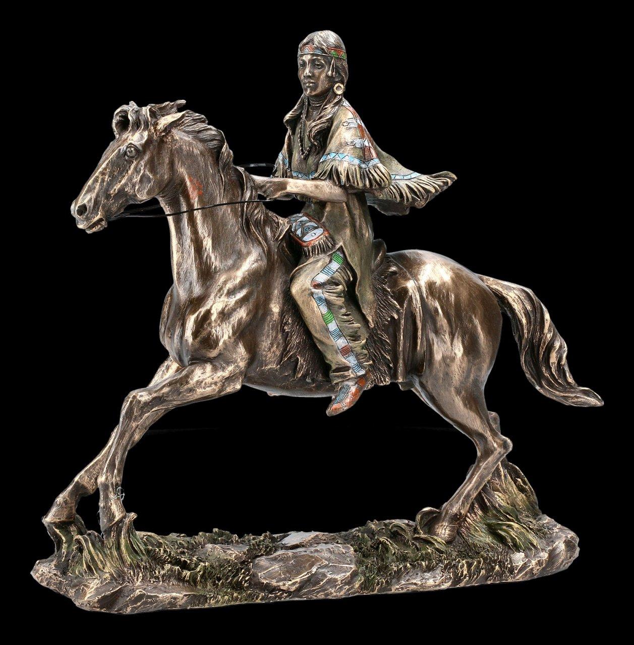 Female Indian Figurine - Riding on Horse