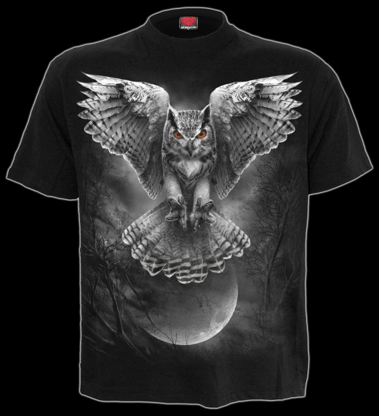 Wings Of Wisdom - Gothic Owl T-Shirt