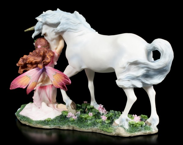 Maidens Sweet Song - Fairy with Unicorn