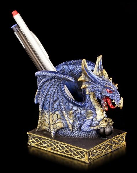 Drachen Stiftebecher - Cobalt blau