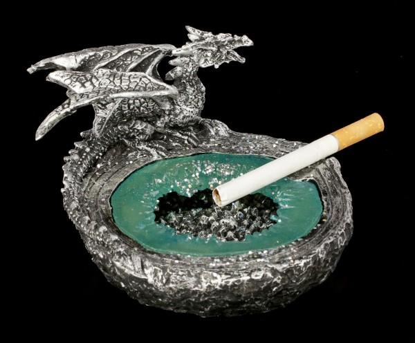 Dragon Ashtray - silver colored