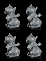 Gargoyle Figurines - Little Unicorn Set of 4