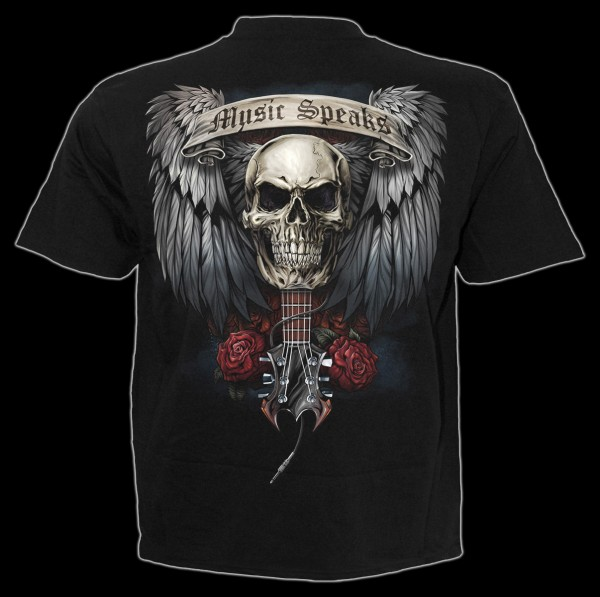 Spiral Totenschädel T-Shirt - Unspoken