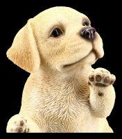 Dog Figurine - Labrador Puppy on Hind Paws