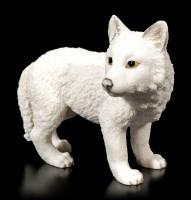 White Wolf Figurine - Puppy standing