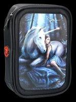 Large 3D Pencil Case - Unicorn Blue Moon