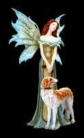 Elfen Figur - Tanya geht mit Hund Gassi