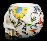 Skull Pen Pot - Day of the Dead