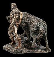 Tyr Figurine with Fenrir - God of War