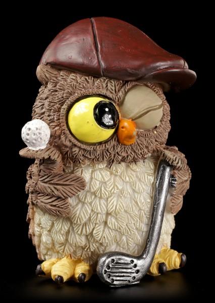 Funny Owl Figurine - Golfer