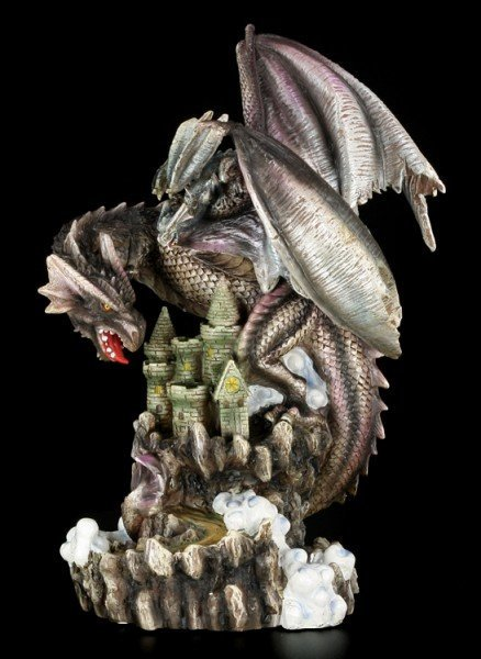 Large Dragon Figurine with Cub - Castle Breed