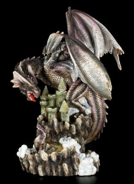 Große Drachen Figur mit Jungem - Castle Breed