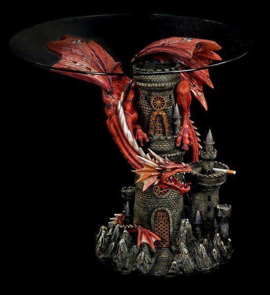 Drachentisch - Roter Drache Zirath mit Ascher