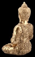 Sitting Buddha Tealight Holder - gold colored