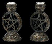 Pentagram Candle Holder - Set of 2