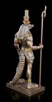 Sobek Figur - Altägyptischer Gott mit Krokodilkopf