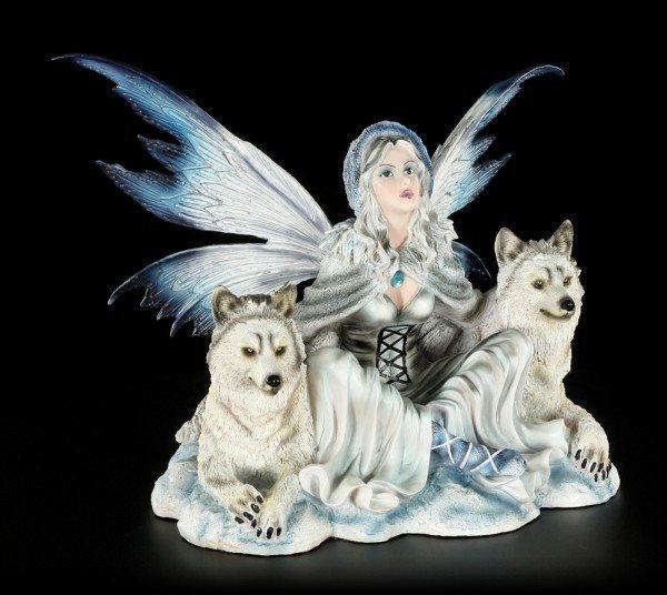 Elfen Figur - Calista mit zwei Wölfen