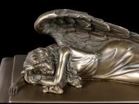 Tier Urne - Schlafender Engel