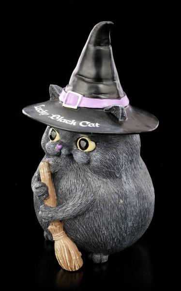 Katzen Figur - Snapcat Lucky Black Cat Hexenhut