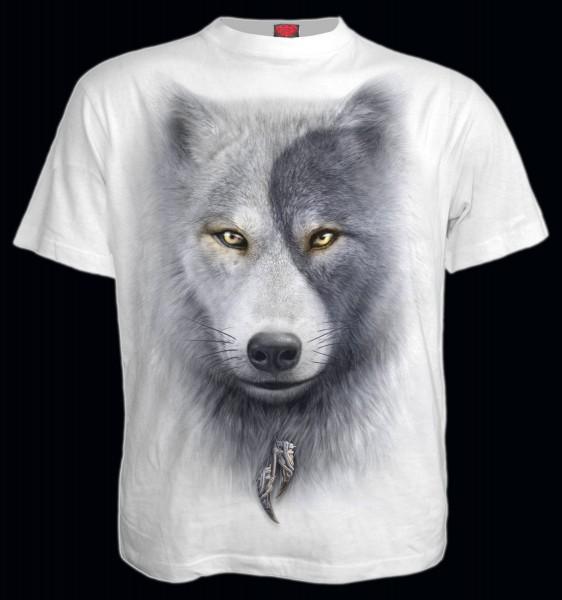 Spiral Wolf T-Shirt weiß - Wolf Chi